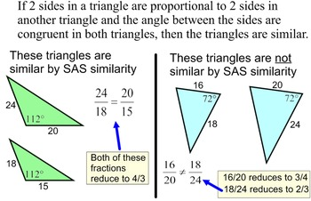 Similar Triangles Instruction, Student Reference, 11 Assig