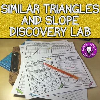 Similar Triangles, Slope, and Proportional Relationships D