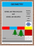 Similar Triangles and Shapes with Assessment and detailed