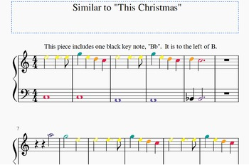 Similar to This Christmas (Colored Piano or Boomwhacker Notes)