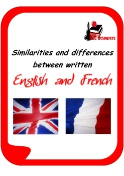 Similarities and differences between written  English and French