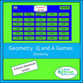 Geometry Smartboard Q and A Game - Similarity
