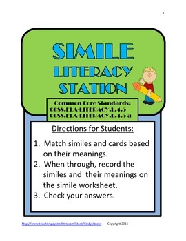Simile Literacy Station
