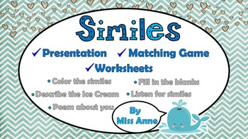 Similes: Presentation, Activities, Worksheets