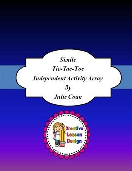 Simile Tic-tac-toe Activity Array