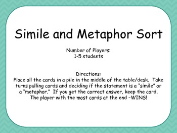 Simile and Metaphor Game