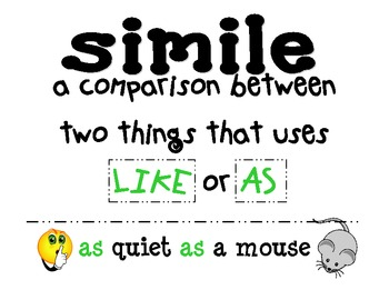 Simile and Metaphor Poster