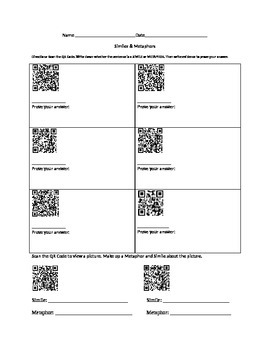 Simile and Metaphor QR
