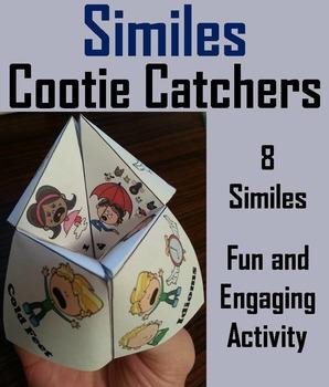 Similes Activity - Figurative Language Foldable Quiz 3rd 4