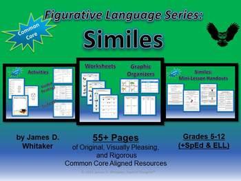 Similes Figurative Language Unit Resources and Materials C