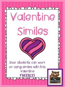 Similes Freebie (Valentine's Themed)