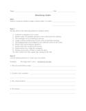 Similes Practice Sheet