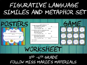 Similes and Metaphor Activity Set