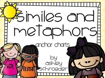 Similes and Metaphors anchor charts {FREEBIE}