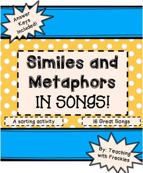 Similes and Metaphors in Songs: A Lyric Sort Activity