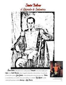 Simon Bolivar Coloring Page