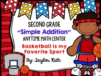 """Simple Addition Math Centers for First and Second Grade """"O"""