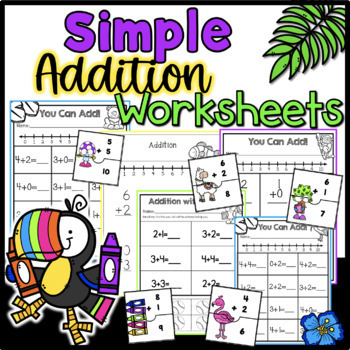 Simple Addition Practice Worksheets