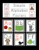 Simple Alphabet Posters