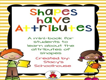 Attributes of Shapes Book: Student Interactive