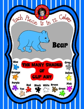 Simple Bear Clip Art ready to be added to your favorite Re