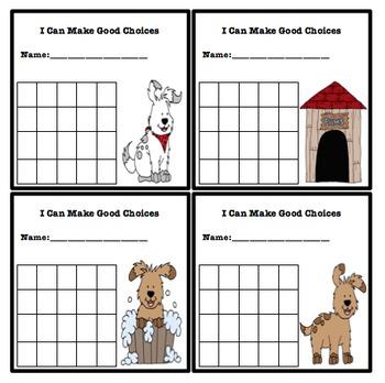 Simple Behavior Chart (Dog Themed)