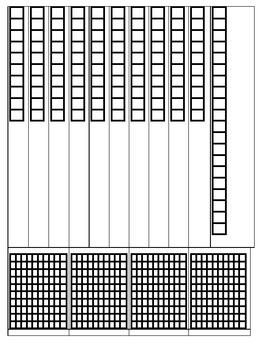 Simple Black and White base 10 Set