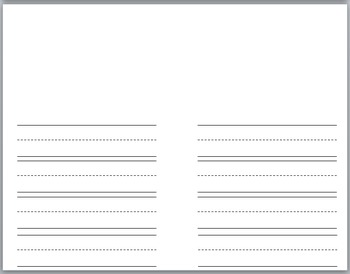 Simple Book Writing Lined Paper