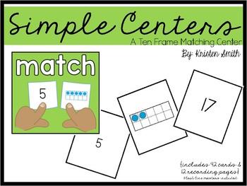 Simple Centers- Ten Frames
