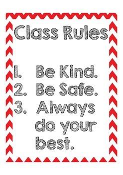 Simple Class Rules Freebie