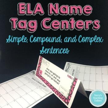 Task Tents™:Simple, Compound, Complex Sentences