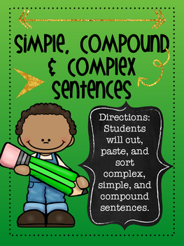 Simple, Compound, Complex Sentence Sort Activity