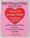 Simple, Compound, Complex Sentences! Valentine Hands-On Ma