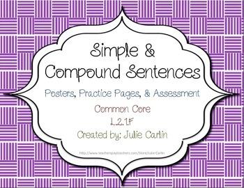 Simple & Compound Sentences L.2.1.F