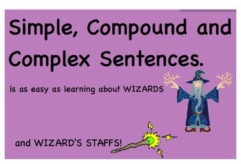 Simple, Compound and Complex Sentence Writing