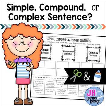 Simple Compound and Complex Sentences: Cut and Paste Sort