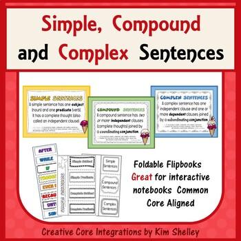 Simple, Compound and Complex Sentences-Interactive Foldabl