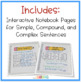 Simple, Compound, and Complex Sentences {Interactive Notes