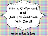 Simple, Compound, and Complex Task Cards