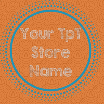 TpT Store Simple Design Orange Burst Logo, Banner and Labe