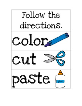 Simple Direction Cards