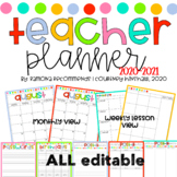Simple Editable Teacher 2016-2017 Lesson Planner