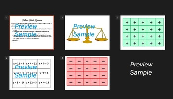 Simple Equations Balance Scale Activity