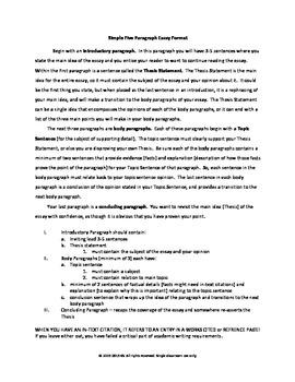 Simple Five Paragraph Essay Format