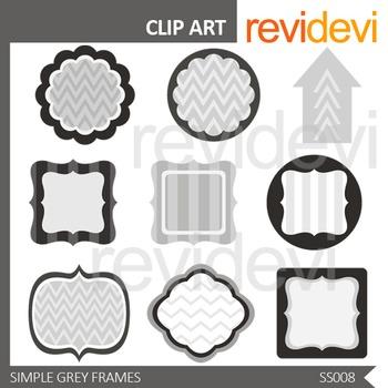 Simple Grey Frames Clip art - Monochromatic design