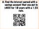 Simple Interest QR Task Cards