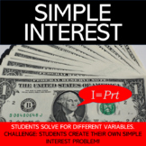 Simple Interest Worksheet