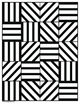 Simple Lines and Shapes Coloring Pages