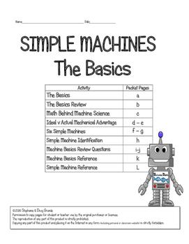Simple Machine Basics ~ 5th, 6th, 7th, 8th & Homeschool