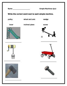 Simple Machine Quiz